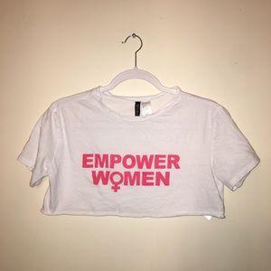 Empower women crop top